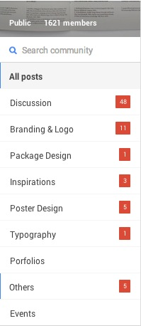 Google-plus-community--categories-Print+Web+Interface-DiY