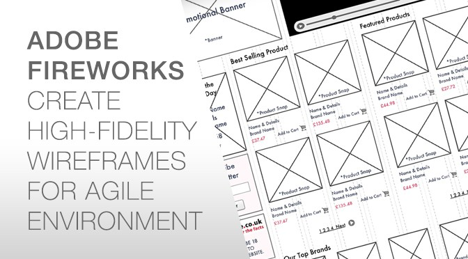 Create High Fidelity Wireframes in Fireworks